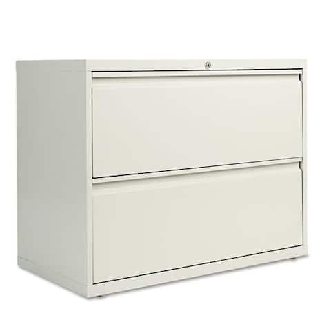 Alera Two-Drawer Lateral File Cabinet, Light Gray