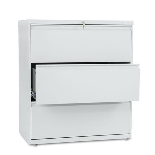HON 800 Series 36-inch Wide 3-Drawer Lateral File Cabinet...