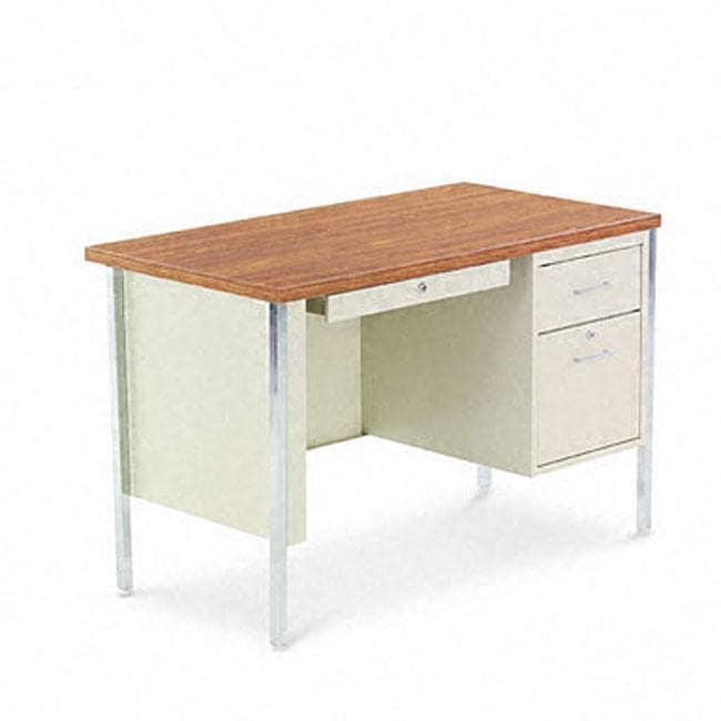 Shop Alera Single Pedestal Steel Desk Free Shipping