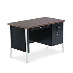 Alera Single Pedestal Steel Desk