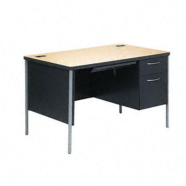 hon mentor series 48 inch right pedestal desk free