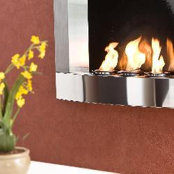 Thumbnail 2, Stainless Steel Wall Mount Fireplace. Changes active main hero.