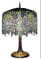 Tiffany-style Wisteria Table Lamp
