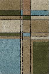 Artist's Loom Hand-tufted Contemporary Geometric Wool Rug (7'9 Round) - Thumbnail 2