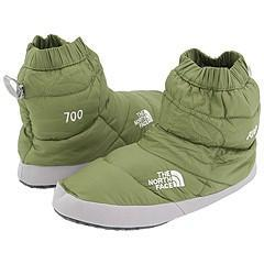 00187861d The North Face Women's NSE Tent Bootie II Alba Green/Foil Grey Slippers