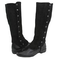 Lumiani Rina Black Leather Boots - Thumbnail 0