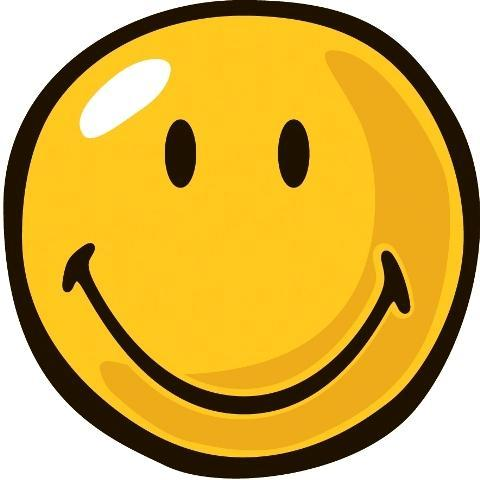 Yellow Smiley Party Rug (3'3 Round)