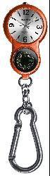 Thumbnail 2, Dakota Women's Carabiner E-clip Orange Watch. Changes active main hero.