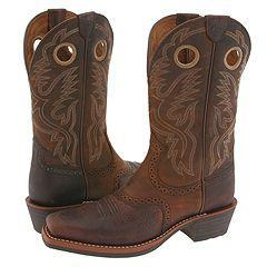 Ariat Heritage Roughstock Brown Oiled Rowdy Boots - Thumbnail 0