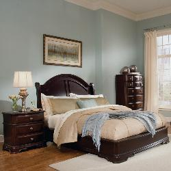 Dupioni Queen Bed with 2 Nightstands - Thumbnail 1