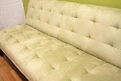 Light Seafoam Green Microfiber Sofa and Chair Set - Thumbnail 2