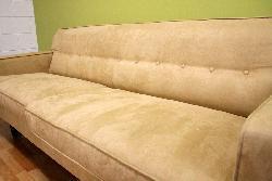 Microfiber Camel-colored Retro Sofa Set - Thumbnail 2