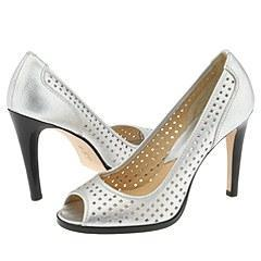 MICHAEL Michael Kors Rose Open Toe Silver Pumps/Heels