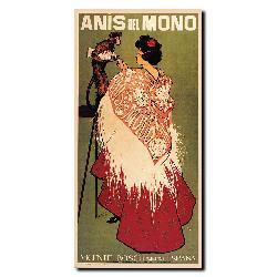 'Anis del Mono' Gallery-wrapped Canvas Art