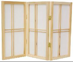 Spruce Wood 24-inch Double Cross 5-panel Room Divider (China)