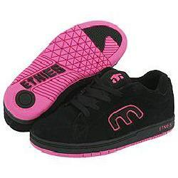 pink and black etnies