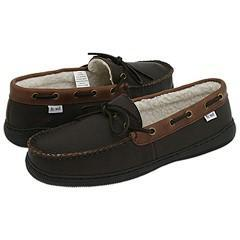 Fitzwell Alfred Brown Tumbled Leather Slippers