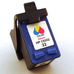 HP 22 Color Ink Cartridge (Remanufactured)