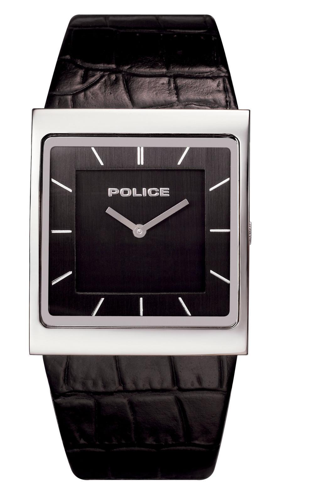 Police Men's Slim Square-shape Black Watch - Free Shipping ...