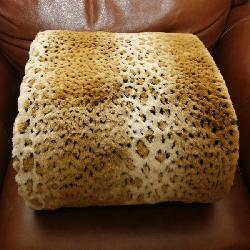 Cheetah Faux Fur Throw Blanket (58 in. x 60 in.) - Thumbnail 1
