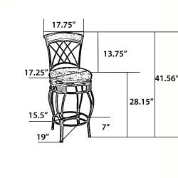 'Elmbridge' Adjustable Bar Stool - Thumbnail 1