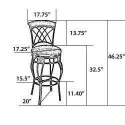 'Elmbridge' Adjustable Bar Stool - Thumbnail 2