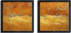 Lanie Loreth 'Flower Fields I and II' Framed Canvas 2-piece Art Set - Thumbnail 1