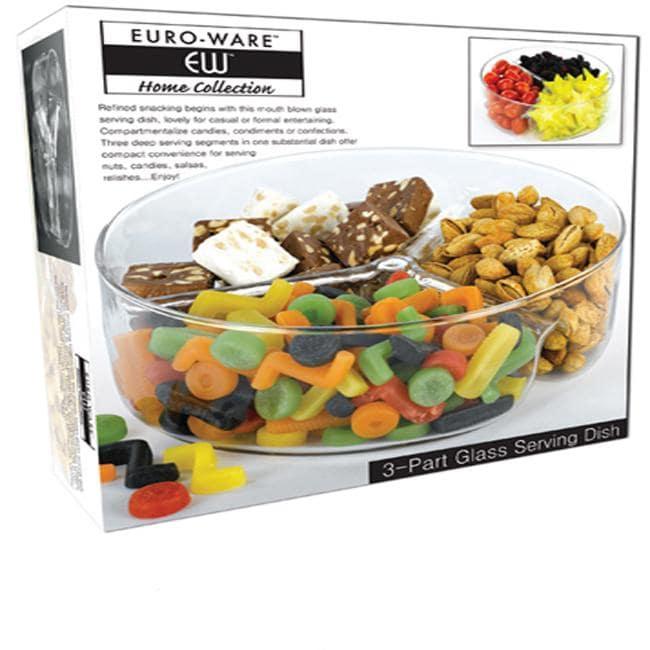 Euro Ware 3-compartment Glass Serving Dish