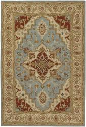 Hand-knotted Mandara Beige New Zealand Wool Rug (7'9 x 10'6)