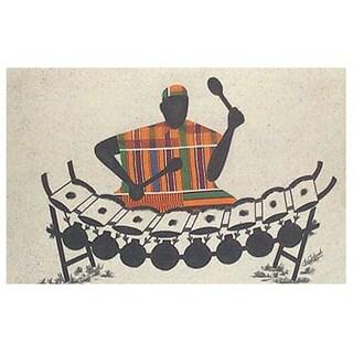 Handmade Xylo Player' Painting (Ghana)