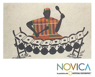 'Xylo Player' Painting (Ghana)