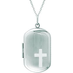 Sterling Silver Cross Locket Necklace