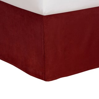 Tailored Microsuede 14-inch Drop Bedskirt