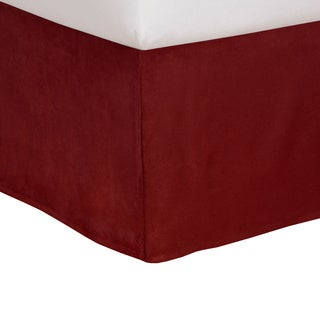 Tailored Microsuede Bedskirt