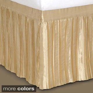 Pleated Satin Bedskirt Free Shipping Today Overstock