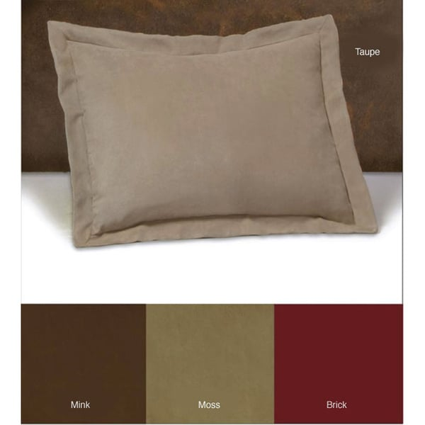 Tailored Microsuede Shams (Set of 2)