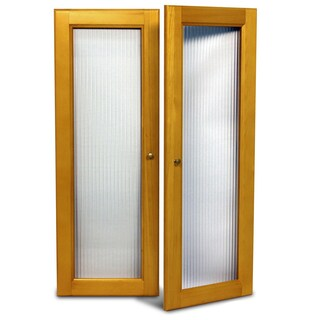 John Louis Home Collection Deluxe Fluted Glass Tower Door Kit (Option: Tan)