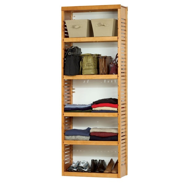 John Louis Home Collection Stand Alone Tower Shelf Standards   Free  Shipping Today   Overstock.com   12029377