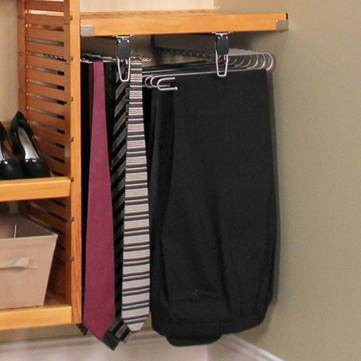John Louis Home Collection 16 Inch Tie And Belt Undermount Rack