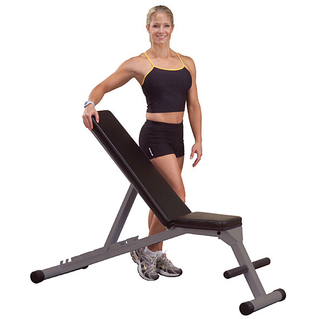 Powerline Folding Flat, Incline and Decline Bench - Thumbnail 0