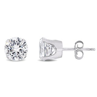 Miadora 10k Gold Created White Sapphire Stud Earrings