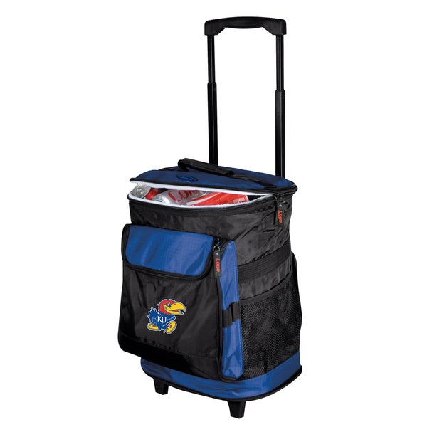 NCAA University of Kansas 'Jayhawks' Insulated Rolling Cooler