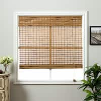 Arlo Blinds Corded Dali Native Bamboo Roman Shade with 74 Inch Height