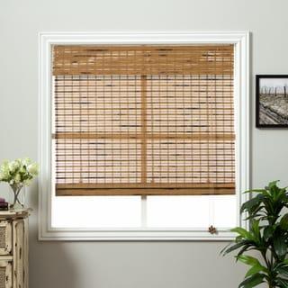 arlo blinds dali native bamboo roman shade with 74 inch height