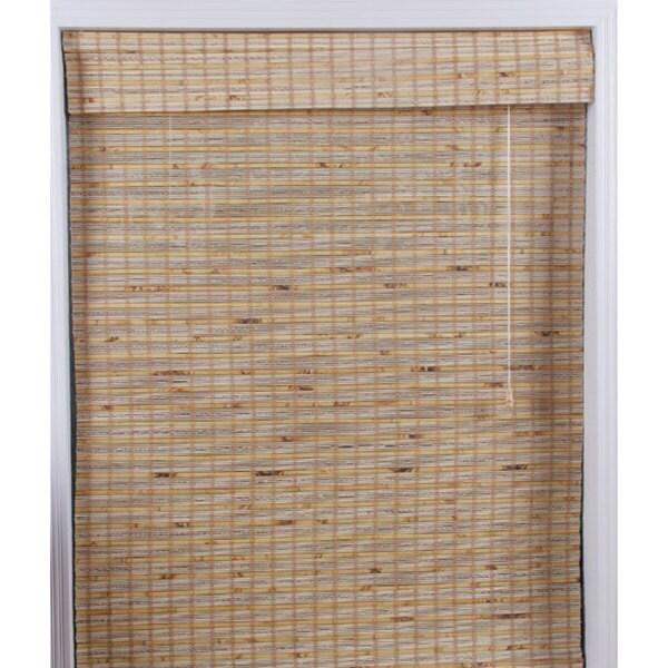 Arlo Blinds Mandalin Bamboo Roman Shade (18 in. x 74 in.)