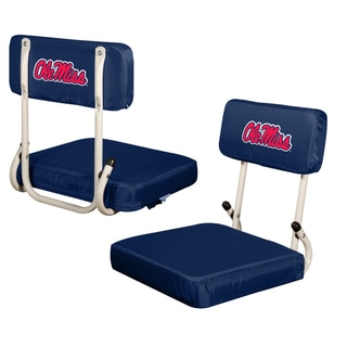 University Of Mississippi U0027Ole Missu0027 Hard Back Folding Stadium Seat