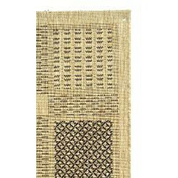 Safavieh Lakeview Sand/ Black Indoor/ Outdoor Runner (2'4 x 6'7) - Thumbnail 1