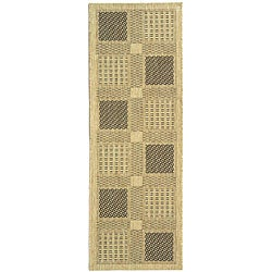 Safavieh Lakeview Sand/ Black Indoor/ Outdoor Runner - 2'4 x 6'7 - Thumbnail 0