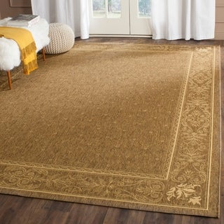 Safavieh Summer Brown/ Natural Indoor/ Outdoor Rug (8' x 11')