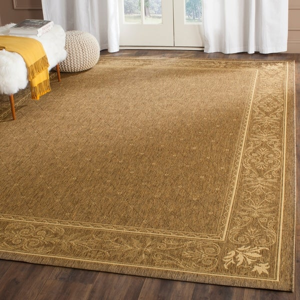 Safavieh Summer Brown/ Natural Indoor/ Outdoor Rug - 8' x 11'